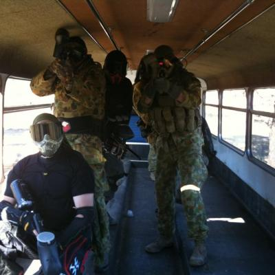 Bus Alley Paintball Battlefield Map